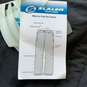 Slalom Men's Pull On Winter Ski Snow Pants Large